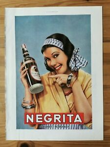 1935 Reklame Werbung  4 / Rum Negrita