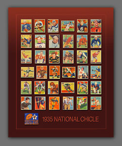 1935 NATIONAL CHICLE Art Print Poster – Complete 36-Card Set – Shipping Included