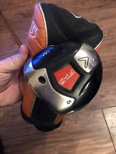 SUPERB TOUR ISSUE CALLAWAY FT-5 DRAW DRIVER, 10' LOFT, REG FLEX GRAPHITE SHAFT
