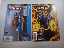 ultimate spiderman #11,12  bendis/bagley     NM 9.4/9.6