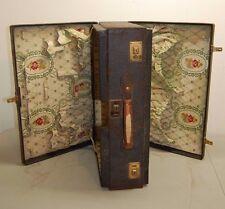 Antique Luggage Double Suitcase Duplex Vanity