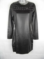 Womens Micro Shift Dress Size 10, Lace Up Black Wet Look Club Mistress