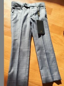 *NEW*  Boys Next Clothing Blue Check Formal Suit Trouser Age 4Years BNWT RPP 31