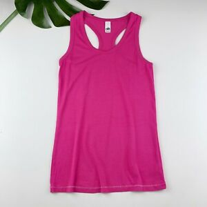 Alo Yoga Neon Pink Racerback Tank Top Bamboo Lyocell Size XS Soft Stretchy