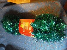 Nos Deluxe Garland 12 Feet x 4 Inches Wide Blues Greens Germany for S S Kresge