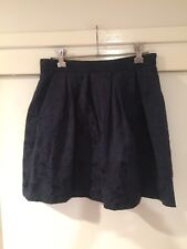 Forever New Ladies Blue Floral Skirt Size 8 Good Condition