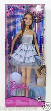 2008 BARBIE FASHION FEVER TERESA SPARKLY BLUE SATIN PARTY DRESS NRFB