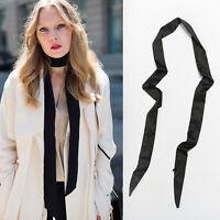 Women's Skinny Scarf Satin Long Slim Ribbon Thin Tie Neck Fashion Ladies  Dwwj