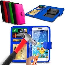 For UMI Rome X - Clip On PU Leather Flip Wallet Case Cover & Glass