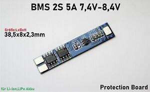 BMS 2S 5A Li-Ion LiPo Battery 18650 Charger Protection Board 7.4V 8.4V Platine