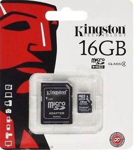 Genuine Kingston 16GB Micro SDHC Memory / Flash Card Class 4