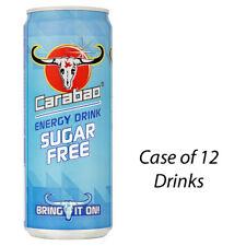CARABAO ENERGY DRINK SUGAR FREE 330ml CASE OF 12 DRINKS WHOLESALE 228862