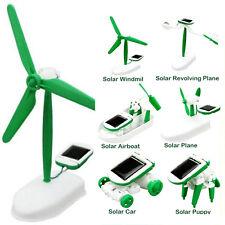 6En1 Energie Solaire DIY Éducatif Bateau Ventilateur Voiture Robot Jouet Cadeau