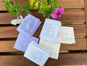 Easter cards mini set of 4