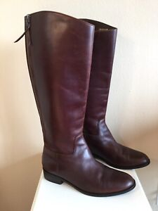 Women's Cole Haan Riding Boots Brown Leather Size 9 B