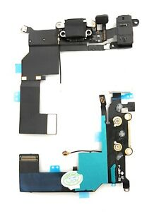 Für iPhone 5S USB Ladebuchse Dock Connector Audio Jack Mikrofon Flex Kabel NEU