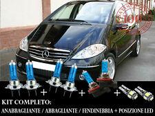 MERCEDES CLASSE A W169 SET COMPLETO LAMPADE BLU XENON + POSIZIONE A LED