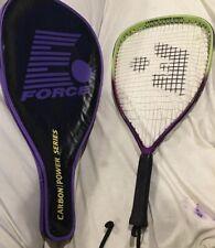 E Force Hyperlite 150 G Carbon Power Series Racquetball Racquet Racket w/ Case