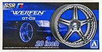 Aoshima 53843 Tuned Parts 51 1/24 SSR WERFEN GT-03 20inch Tire & Wheel Set