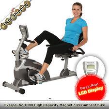 Exerpeutic 1000 Magnetic Recumbent Bike w/Pulse Home Gym Rehab Physio Exercises
