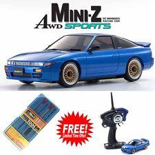 Kyosho MINI-Z AWD Sports MA-020S NISSAN Sileighty Car Blue RTR w/ Free Tool Set