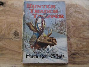 1921 Hunter Trader Trapper Magazine Remington Fur Traps Harley Davidson Ads