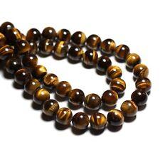 Perles de Pierre - Oeil de Tigre Boules 12 mm Fil de 39 cm