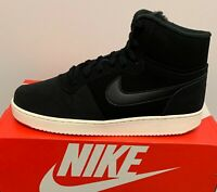 Nike Ebernon Mid SE Sneakers Trainers Mans Shoes Black High Top Size UK7.5 EU42