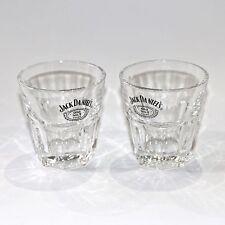 JACK DANIELS OLD NO.7 BRAND WHISKEY GLASSES OCTAGONAL BASE - PAIR