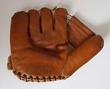 Vintage Baseball Mitt Leather Left Handed Thrower Ken Wel 553S