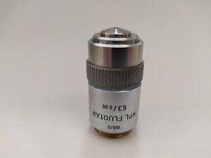 Obiettivo Microscopio Leitz Floutar 63 X / 0.90