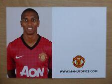 2012-13 Ashley Young Unsigned Man Utd Club Card (9706)