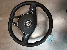 VOLKSWAGEN POLO STEERING WHEEL LEATHER, 6R, TRAPEZIUM CENTRE, W/ CONTROL TYPE, 0
