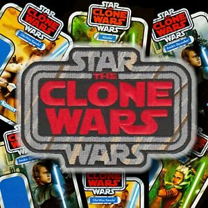 """STAR WARS""""The CLONE WARS"""" Kenner Vintage Collection style toy logo patch Global"""