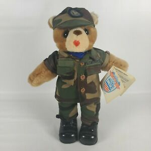U.S. Air Force Bear Forces Of America Vintage 1989 - Camo Blue Shirt Black Boots