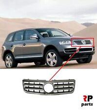 VW Touareg 2014-2018 Pare-Chocs Avant Centre Calandre noir avec Chrome moulures nouveau