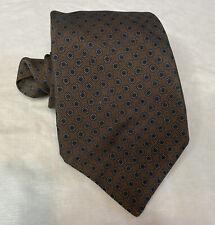 Kiton Napoli Sunflower 7 Fold Tie 100% Silk Made In Italy