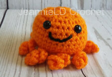 Handmade Crochet Mini Octopus/Octopod Decoration / Toy / Photo Prop - Orange