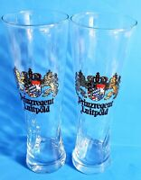 "1 WEIHENSTEPHAN 0.5 LITER GERMAN PILSNER BEER SWIRLED GLASS 9.5"" TALL FS"