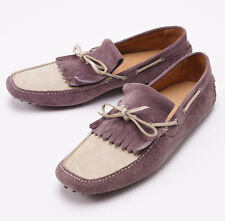 NIB $600 SUTOR MANTELLASSI Calf Suede Driving Moccasins US 11 D Shoes
