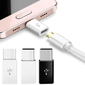 Micro USB Female to Type C Male Adapter Converter Micro-B to USB-C Connector