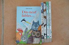 coffret 4 livres Jean Muzi : 19 fables - TBE / éditions Castor Poche