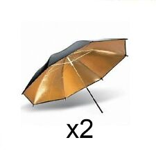 Juego 2 Paraguas dorado-negro 101cm-ENVIO GRATIS