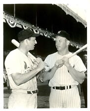 8 x 10 Glossy Photo Mickey Mantle & Stan Musial