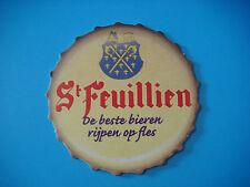 Beer Brewery Coaster <*> Brouwerij St FEUILLIEN Abdijbier ~*~ Le Roeulx, Belgium