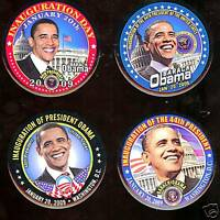 4 OBAMA pin INAUGURATION 2008 pinbacks