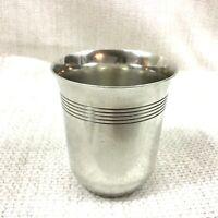 Gallia Christofle Silver Plated Kiddush Cup Beaker Original French Art Deco