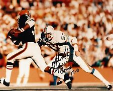 "MIKE KOLEN  MIAMI DOLPHINS ""CAPTAIN CRUNCH""  1972 17-0   ACTION SIGNED 8x10"