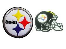 New 2 NFL Pittsburgh Steelers Logo Football embroidered iron on patch. (i5,i26)