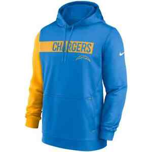 New 2021 NFL Los Angeles Chargers Nike Colorblock Performance Pullover Hoodie LA